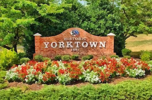 Yorktown Sign by Harry Warrick