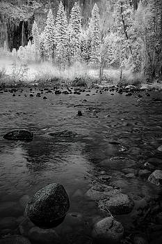 Yosemite River in BW by Jon Glaser