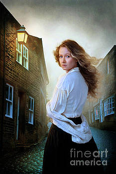 Young Victorian Woman At Night by Lee Avison