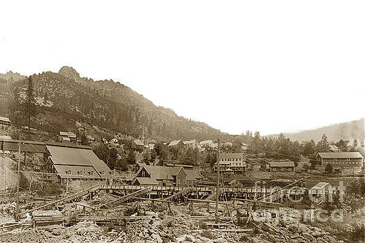 California Views Archives Mr Pat Hathaway Archives - Yuba Mill,  Chlorination plant, Sierra Butttes mill located in Sierra 1890