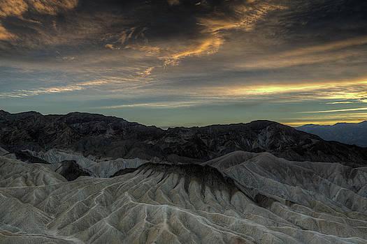 Zabriskie Point at Sunset in Death Valley by Constance Puttkemery