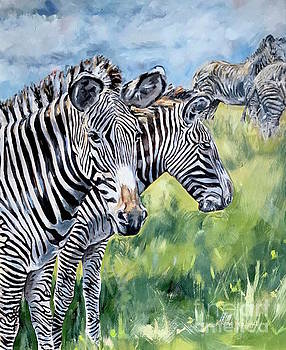 Zebras by Maria's Watercolor
