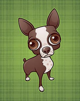 Zippy the Boston Terrier by John Schwegel