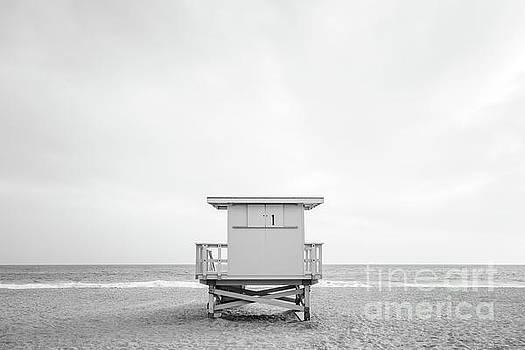 Paul Velgos -  Zuma Beach Malibu Lifeguard Tower #1 Black and White Photo