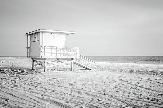 Paul Velgos - Zuma Beach Malibu Lifeguard Tower #3 Black and White Photo