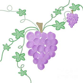 Priscilla Wolfe - Watercolor Grapevine