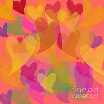Priscilla Wolfe - Watercolor Hearts