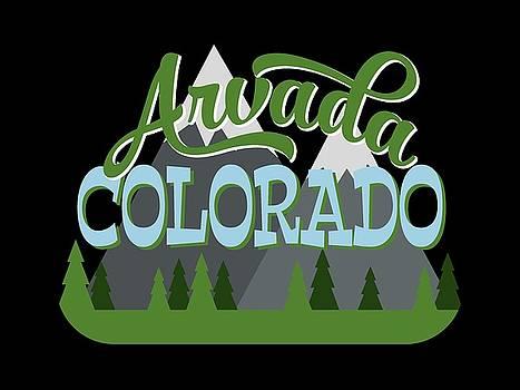 Flo Karp - Arvada Colorado Retro Mountains Trees