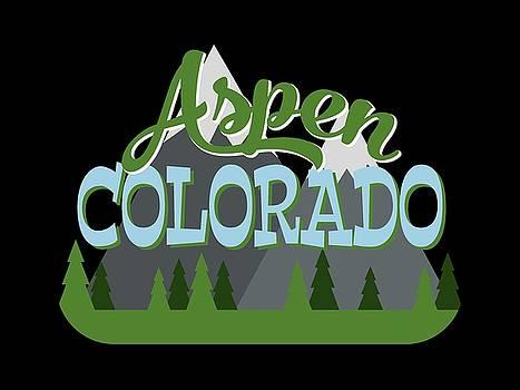 Flo Karp - Aspen Colorado Retro Mountains Trees