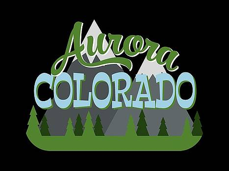 Flo Karp - Aurora Colorado Retro Mountains Trees
