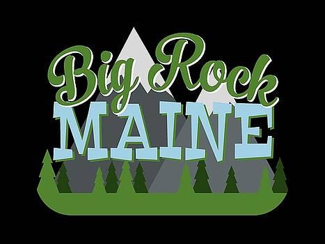 Flo Karp - Big Rock Maine Retro Mountains Trees