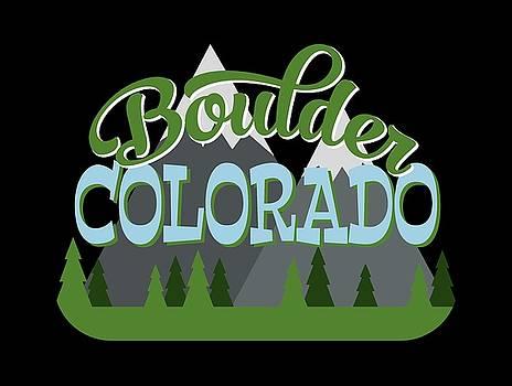 Flo Karp - Boulder Colorado Retro Mountains Trees