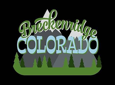 Flo Karp - Breckenridge Colorado Retro Mountains Trees