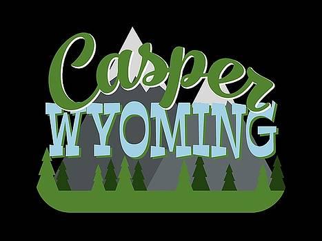 Flo Karp - Casper Wyoming Retro Mountains Trees
