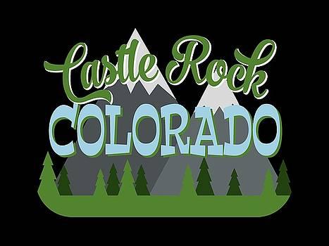 Flo Karp - Castle Rock Colorado Retro Mountains Trees