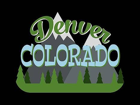 Flo Karp - Denver Colorado Retro Mountains Trees