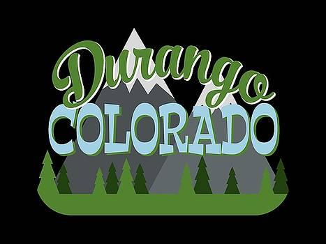 Flo Karp - Durango Colorado Retro Mountains Trees