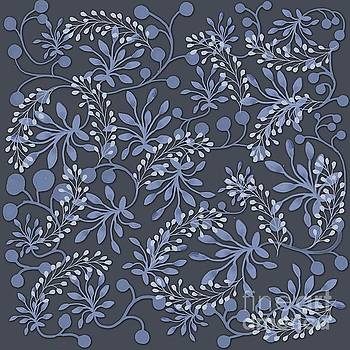 Priscilla Wolfe - Fused Blue Floral Chintz