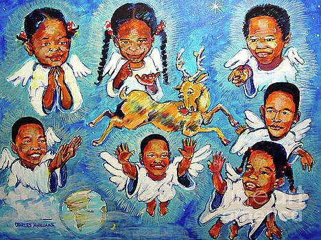 Charles M Williams - Grandkids - Angles teach Rudolph to Fly - 2004