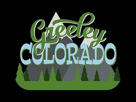Flo Karp - Greeley Colorado Retro Mountains Trees