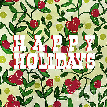 Priscilla Wolfe - Happy Holidays Chintz Vine