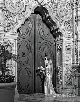 Sad Hill - Bizarre Los Angeles Archive - Haunted by History - Lonesome Bride at Chapel - Black and White - Mission Inn - Riverside CA