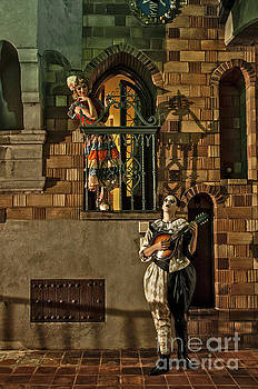 Sad Hill - Bizarre Los Angeles Archive - Haunted by History -  Pierrot and the Maiden - color - by Craig Owens  Mission Inn  Riverside CA