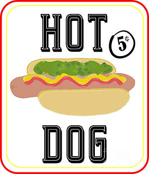 Priscilla Wolfe - Hot Dog Sign