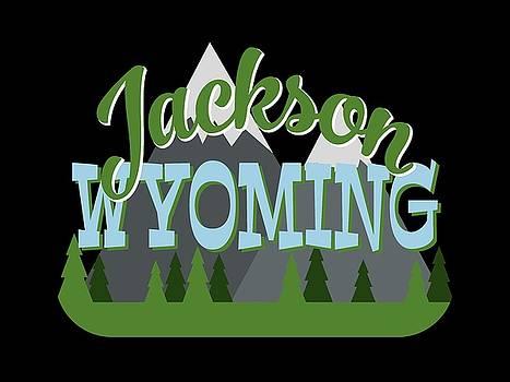 Flo Karp - Jackson Wyoming Retro Mountains Trees