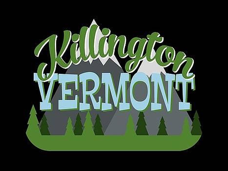 Flo Karp - Killington Vermont Retro Mountains Trees