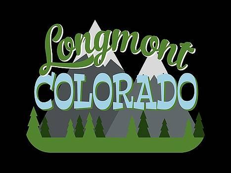Flo Karp - Longmont Colorado Retro Mountains Trees