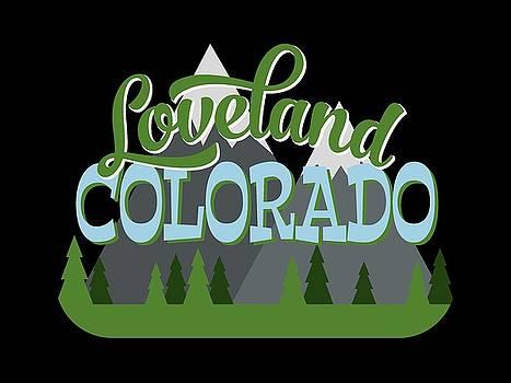 Flo Karp - Loveland Colorado Retro Mountains Trees