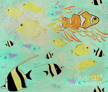 Priscilla Wolfe - Ocean Fish Repeating Pattern