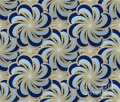 Priscilla Wolfe - Ocean Swirl Repeating Pattern