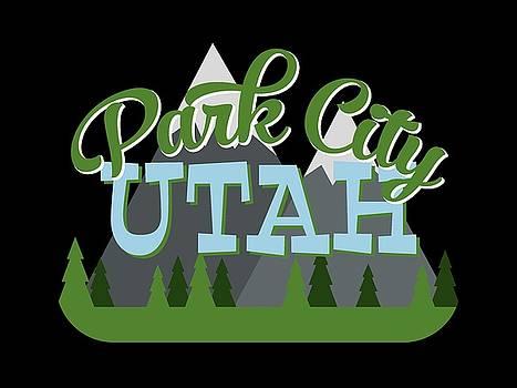 Flo Karp - Park City Utah Retro Mountains Trees