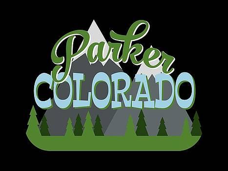 Flo Karp - Parker Colorado Retro Mountains Trees