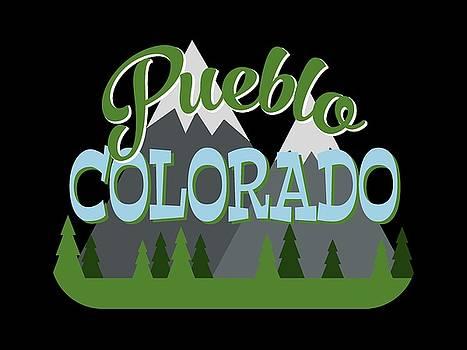 Flo Karp - Pueblo Colorado Retro Mountains Trees