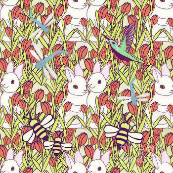 Priscilla Wolfe - Rabbits Garden