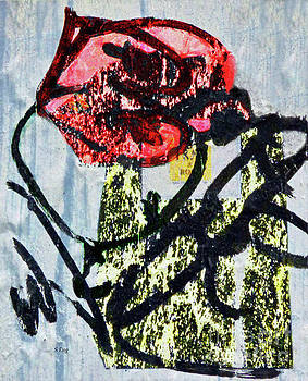 Sharon Williams Eng - Red Rose Abstract 300