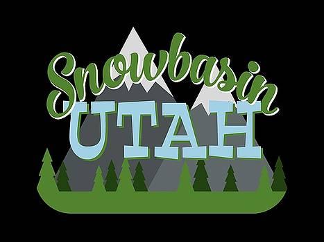 Flo Karp - Snowbasin Utah Retro Mountains Trees