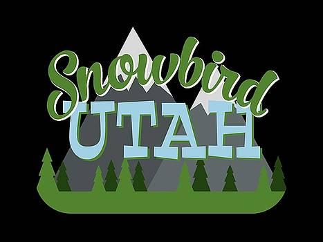 Flo Karp - Snowbird Utah Retro Mountains Trees