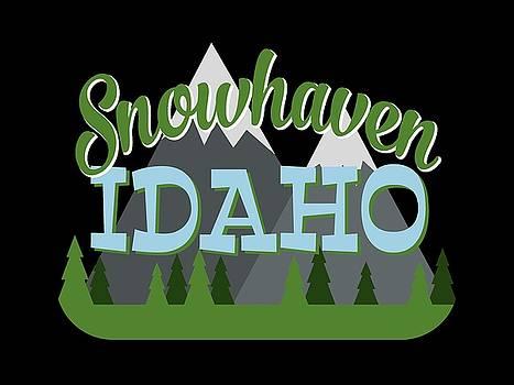 Flo Karp - Snowhaven Idaho Retro Mountains Trees