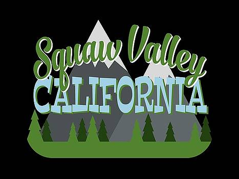 Flo Karp - Squaw Valley California Retro Mountains Trees