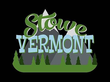 Flo Karp - Stowe Vermont Retro Mountains Trees