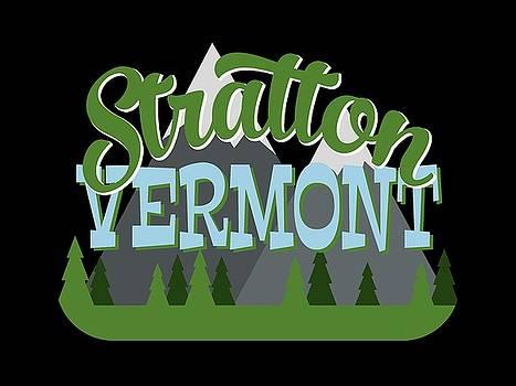 Flo Karp - Stratton Vermont Retro Mountains Trees