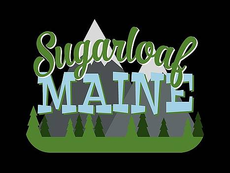 Flo Karp - Sugarloaf Maine Retro Mountains Trees