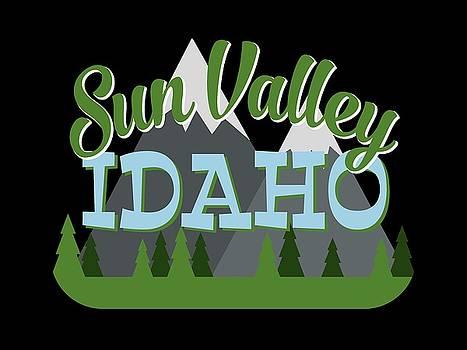 Flo Karp - Sun Valley Idaho Retro Mountains Trees