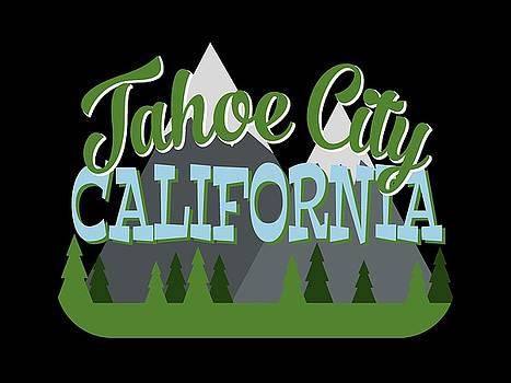 Flo Karp - Tahoe City California Retro Mountains Trees