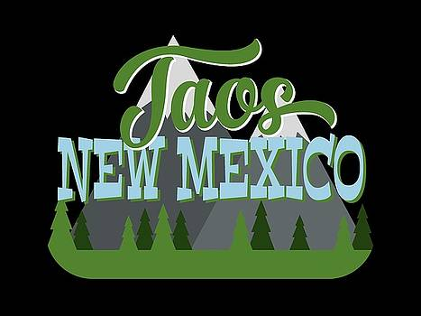 Flo Karp - Taos New Mexico Retro Mountains Trees