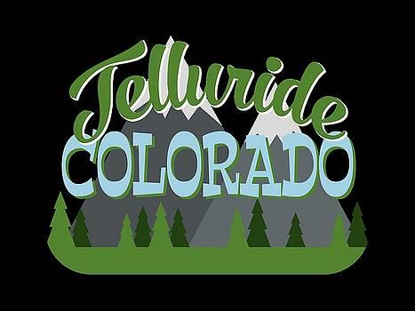 Flo Karp - Telluride Colorado Retro Mountains Trees